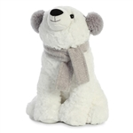 Wish the Stuffed Polar Bear with Ear Muffs and Scarf by Aurora