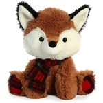 Puma D. Plaid Plush Fox with Tartan Scarf by Aurora