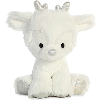 Sterling Silver the Glitzy Tot Plush Reindeer by Aurora