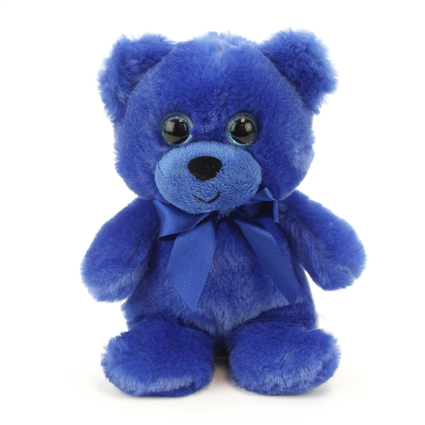 863602740 Blue Teddy Bear 6 Inch Rainbow Brights Bear
