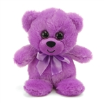 Purple Teddy Bear 6 Inch Rainbow Brights Bear by First and Main