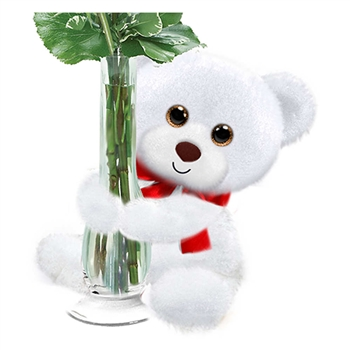 White Huggums Plush Teddy Bear by First and Main
