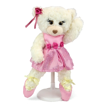 Christina the White Ballerina Teddy Bear by First and Main