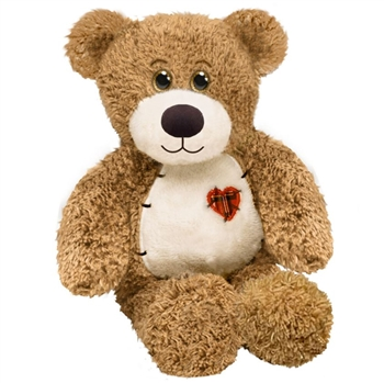 Truly Tender the Teddy Bear with Patchwork Heart by First and Main