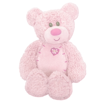 Tender Teddykins the Baby Safe Pink Teddy Bear by First and Main