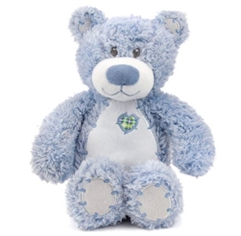 Tender Teddykins the Baby Safe Blue Teddy Bear by First and Main