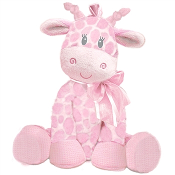 Jingles the Baby Safe Plush Pink Giraffe Rattle by First and Main