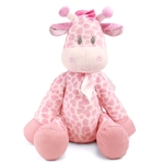 Jingles the Large Baby Safe Plush Pink Giraffe by First and Main
