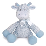 Jingles the Baby Safe Plush Blue Giraffe Rattle by First and Main