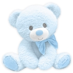 Jesus Loves Me Baby Safe Blue Plush Bear by First and Main