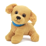 Stuffed Golden Retriever with Collar Wuffles Dog by First and Main