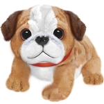 Stuffed Bulldog with Collar Wuffles Dog by First and Main
