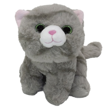 Stuffed Gray Tabby Fluffles Cat by First and Main