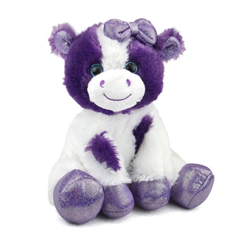 Callie the Sparkly Purple Stuffed Cow Gal Pal by First and Main