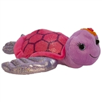 Tallulah the Sparkly Purple Stuffed Turtle 10 Inch by First and Main