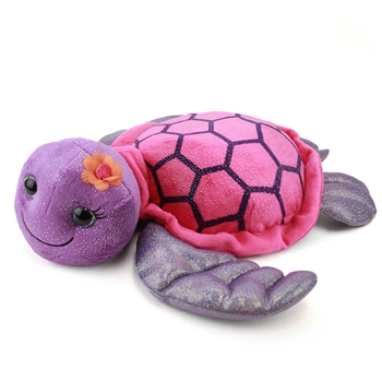 Tallulah the Sparkly Purple Stuffed Turtle 15 Inch by First and Main