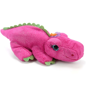 Ally the Sparkly Pink Stuffed Alligator by First and Main