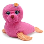 Sydney the Sparkly Pink Stuffed Seal by First and Main