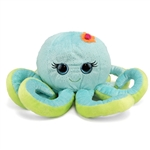 Octavia the Sparkly Green Stuffed Octopus 10 Inch by First and Main