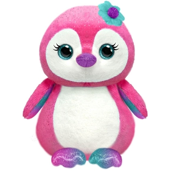 Small Penny the Sparkly Pink Plush Penguin by First and Main