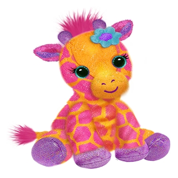 Georgie the Orange and Pink Plush Giraffe by First and Main