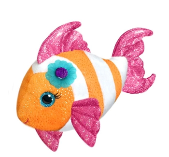 Khloe the Sparkly Stuffed Clownfish 10 Inch by First and Main