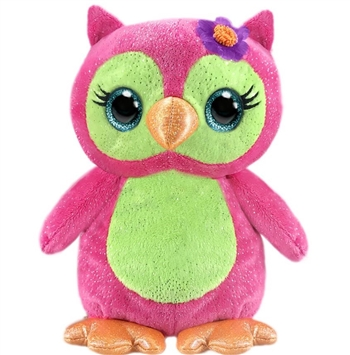 Olivia the Sparkly Pink Plush Owl by First and Main