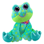 Felicia the Sparkly Blue Plush Frog by First and Main