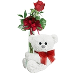 Huggles the White Huggum Teddy Bear by First and Main