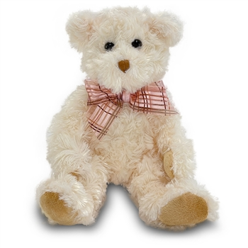 Fuzzy Cream Plush Teddy Bear by Douglas