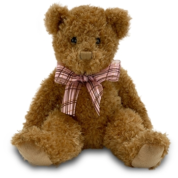 Fuzzy Caramel Plush Teddy Bear by Douglas