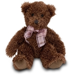 Fuzzy Chocolate Brown Plush Teddy Bear by Douglas