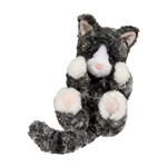 Stuffed Black and White Kitten Lil Handfuls Plush by Douglas
