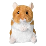 Brushy the Brown and White Plush Hamster by Douglas