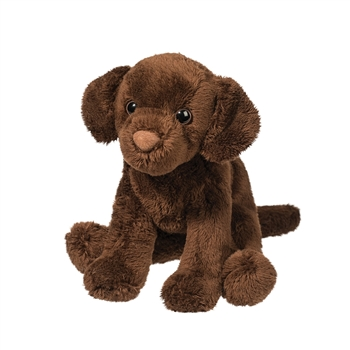 Finn the 5 Inch Plush Chocolate Lab Mini Pup by Douglas