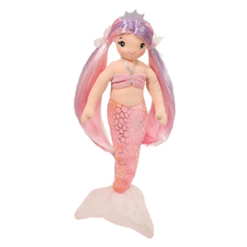 Serena the Pink Plush Mermaid 13 Inch by Douglas