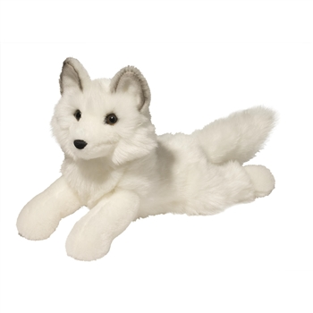Yuki the Lying Floppy Arctic Fox by Douglas