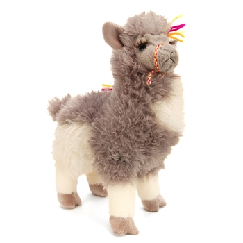 Zephyr the Gray Plush Llama by Douglas