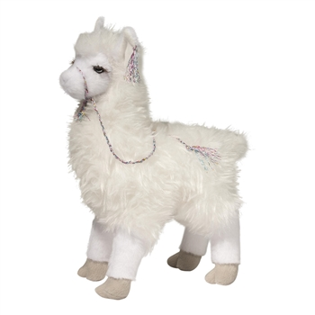 Evelyn the White Plush Llama by Douglas