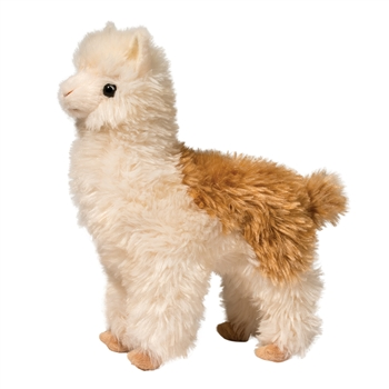 Alice the Plush Brown and White Llama by Douglas
