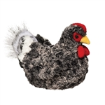 Pepper the Plush Mottled Black Hen by Douglas