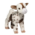 Gerti the Plush White and Brown Goat by Douglas