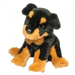 Rocky the 12 Inch Plush Floppy Rottweiler Dog by Douglas