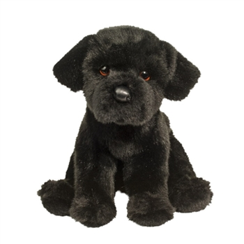 Whittaker the Floppy Plush Black Lab Puppy by Douglas