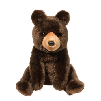 Cal the Sitting Plush Brown Bear by Douglas