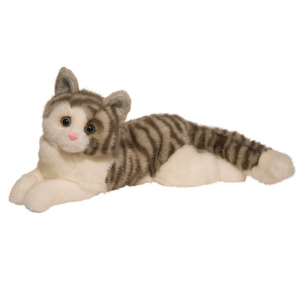 Smokey The Stuffed Gray Tabby Cat By Douglas At Stuffed Safari
