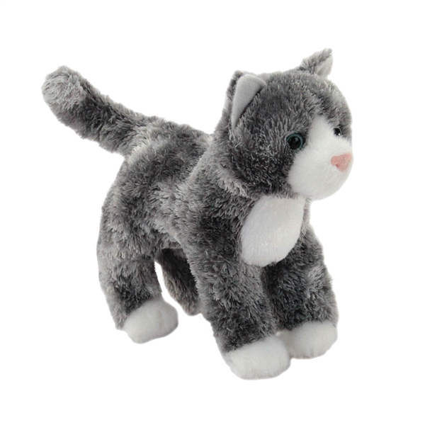 Grey And White Cat With Kitten Toy