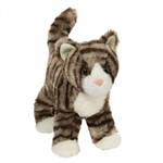 Zigby the 8 Inch Plush Gray Stripe Cat by Douglas