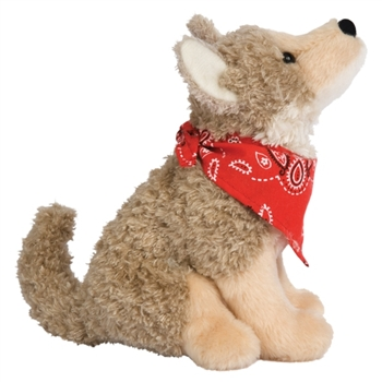 Trixter the Little Plush Coyote with Bandana by Douglas