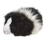 Angora the Little Plush Black and White Guinea Pig